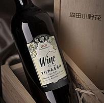 乡村典藏葡萄酒瓶贴