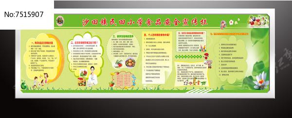 小学生食品安全知识展版图片