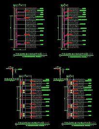 干挂瓷砖标准CAD施工节点详图