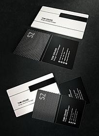 黑白个性钢琴名片