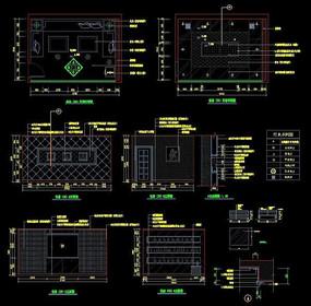 酒吧包房CAD装饰施工详图