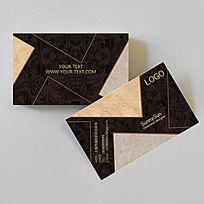 咖啡色瓷砖建材名片设计psd分层素材