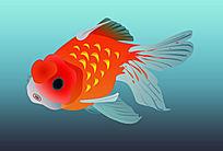 卡通金鱼图案形象
