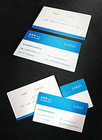 蓝色商务科技名片