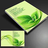 绿色线条树叶农业画册封面psd文件下载