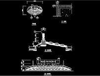 入口标识景墙施工图