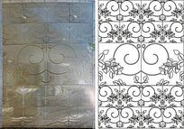 瓷砖花纹雕刻图案