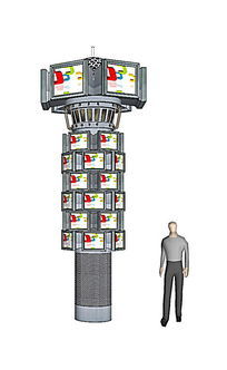 灯柱广告牌SU模型