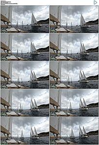 海上帆船实拍视频素材