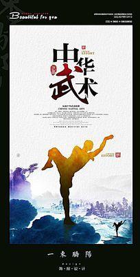 简约中华武术宣传海报设计PSD