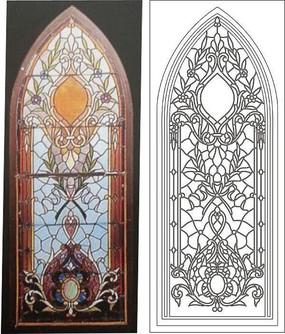 教堂彩玻璃玻璃彩绘圆形玻璃窗  教堂彩色玻璃  哥特式教堂彩绘玻璃