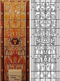 教堂图案人物雕刻图案
