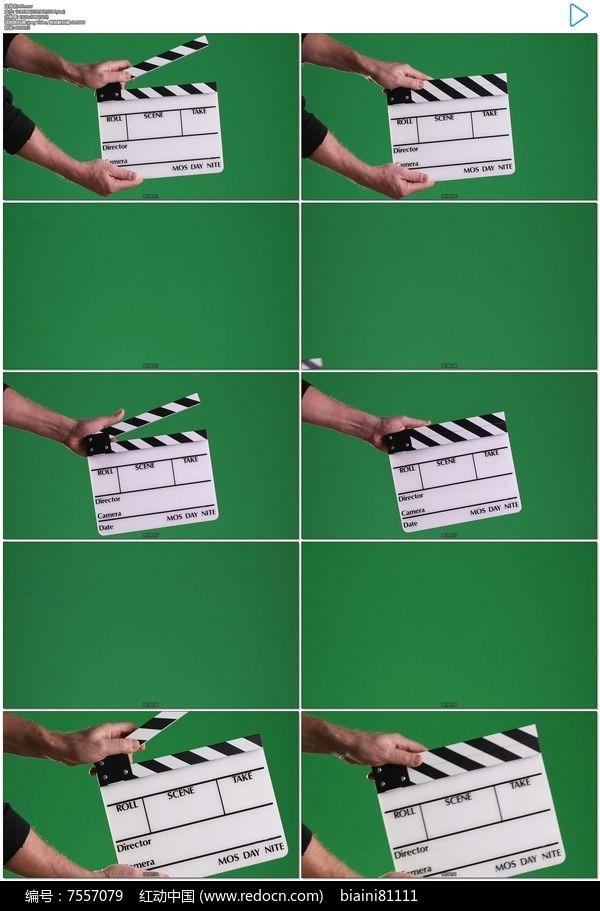 拍电影打板实拍视频素材
