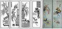 琴棋书画雕刻图案