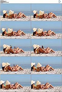 沙滩美女实拍视频素材