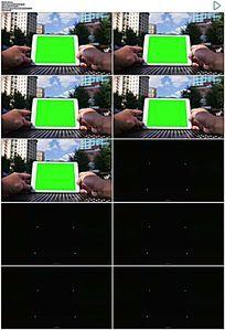 城市平板绿屏抠像视频素材