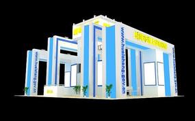 城市展馆模型 max