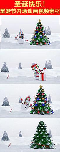 圣诞节开场动画视频素材