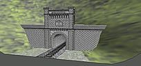 铁路隧道口模型