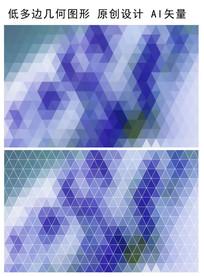 紫色规则三角形抽象背景