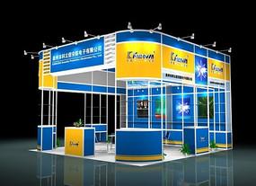 安防电子科技展厅模型