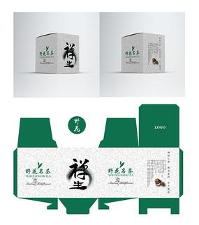 佛道禅生茶叶包装盒设计 AI