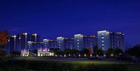 建筑照明楼体亮化入口多层建筑照明设计 PSD
