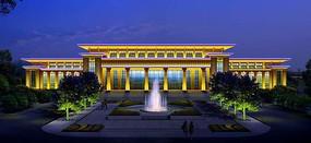 景观亮化建筑照明楼体亮化行政办公楼照明动画设计