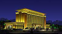 景观亮化建筑照明楼体亮化行政中心照明设计 PSD
