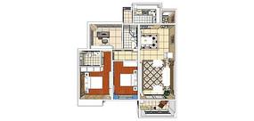 暖色三室一厅带阳台