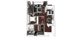 三室一厅家装模型