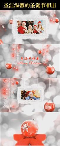圣洁温馨的圣诞节相册会声会影X6X7X8X9模板