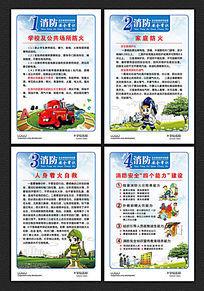 消防安全常识教育展板