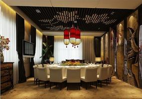 中式大圆桌包厢
