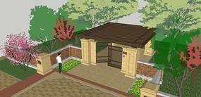 住宅区入口模型