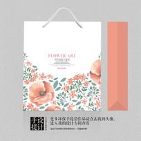 高档花茶茶叶包装礼品手提袋设计