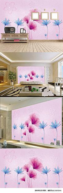 简约清新花朵电视背景墙装饰画