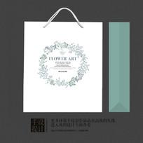 艺术复古唯美花纹礼品手提袋设计