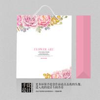 艺术花卉日用品包装手袋设计