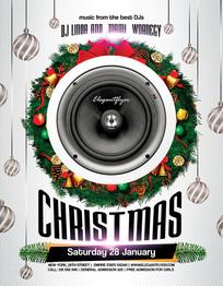 国外圣诞节创意海报设计素材下载
