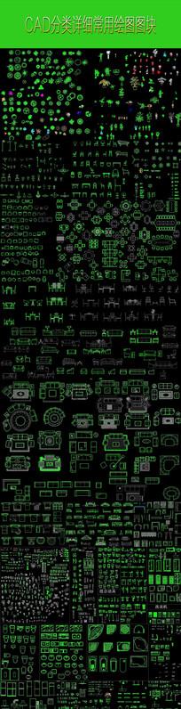 CAD分类图块 CAD模型下载 dwg