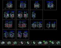 cad欧式风格室内别墅设计施工图立面剖面大样节点图图纸