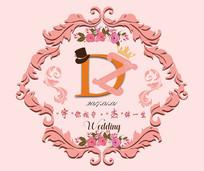 淡粉色logo背景 PSD