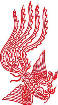 凤凰装饰元素CAD
