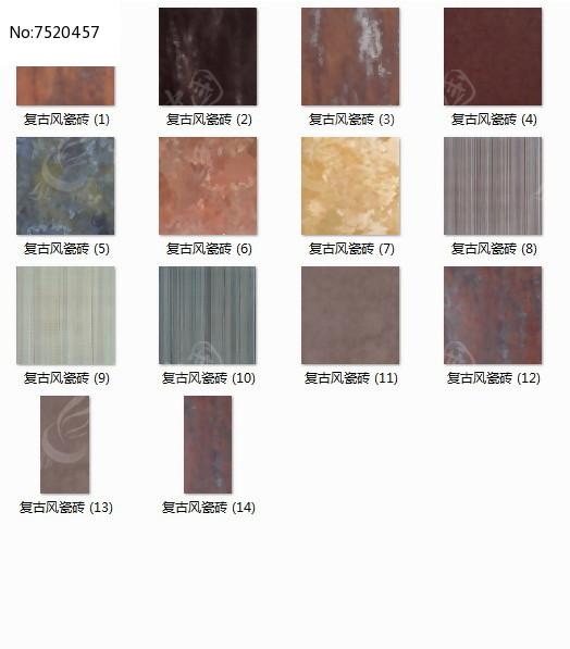 复古风瓷砖贴图图片
