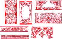 复杂的多种装饰图案CAD