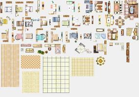 户型图家具素材PSD