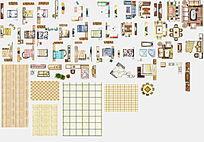 户型图家具素材PSD PSD
