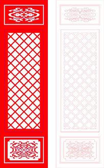 简单的中式门框装饰图案