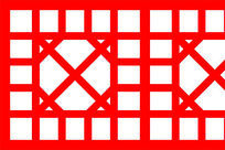 简单的中式墙面装饰图案